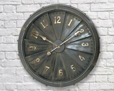 Large Vintage Style 63cm Iron Industrial Jet/Propeller Numerical Wall Clock