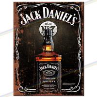 Jack Daniels Metal Sign Man Cave Retro Pub Bar Vintage Wall Plaque Beer Garage