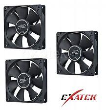 3 x Deepcool XFAN80 Silent 80mm Hydro Bearing Case Fan 20db 4-pin Molex