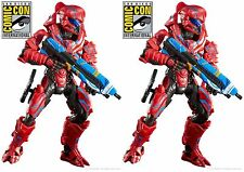 Lot of 2 SDCC 2016 Exclusive HALO Spartan Helioskrill figure Comic Con SHIPS FRE