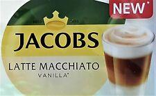 8 X Tassimo Jacobs Latte Macchiato Vainilla T Discos vainas se venden sueltos - 4 Bebidas