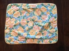 CROSCILL Home Fashions FIESTA Pillow Sham Yellow Roses Blue Green Cottage Shabby