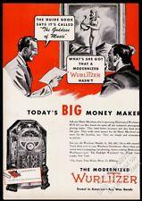 1945 Wurlitzer jukebox photo vintage trade print ad 4