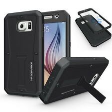 Samsung Galaxy S6 G920 Hybrid Armor Hard Case With Screen Protector / Kickstand