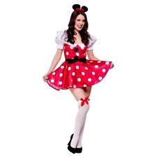 Adult Red MOUSE Fancy Dress Ladies Minnie Mouse Ladybug Costume UK Size 6-24
