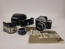 Vintage Nikon F Photomic 35mm Slr Film Camera w/ 50mm Lens & Accessories