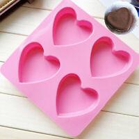 Mold Cake Heart-shaped Decor Baking Soap Ice Cream DIY Tool Silicone Chocolate