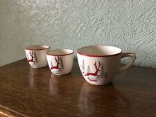 More details for vintage crown devon stockholm pattern - 2 egg cups and 1 small cup mid century