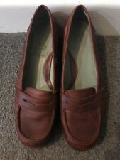 Clarks Brown Leather Ladies Shoes UK 5