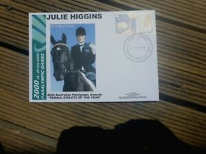 SYDNEY 2000 PARALYMPICS JULIE HIGGINS P-STAMP  PRIVATE  FIRST DAY COVER