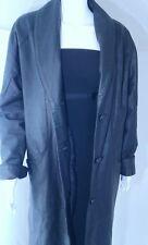 Midlebrook Park  Leather Coat Full Length Black Leather JacketL Retail $175
