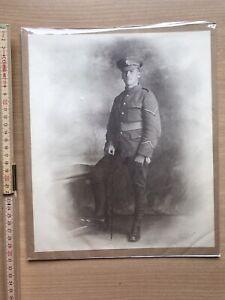 WW1 Large Photograph Of Soldier Kingston London Machine Gun Corps Wound Stripes