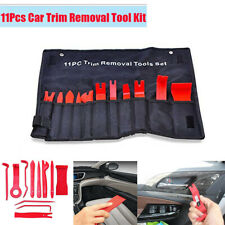11x Car Door Panel Window Trim Remover Mixed Removal Install Tool Kit Red Nylon