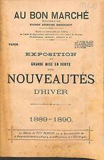 """CATALOGUE GRAND MAGASIN DEPARTMENT STORE CATALOG PARIS """" AU BON MARCHE """" 1889"""