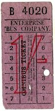 Bus ticket: Enterprise Bus Company, Isle of Wight, 1/-, wartime salvage advert