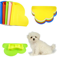 Pet Dog Puppy Feeding Mat Cloud Silicone Dish Tray Bowl Feed Food Water Placemat