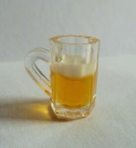 DOLLS HOUSE MINIATURE FOOD HANDMADE * BEER MUG GLASS 1.5CM * COMBINED P+P