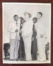 Bing Crosby With Motown Singers 8x10 Glossy Photo Original