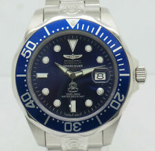Mens Invicta 3045 Pro Grand Diver S. Steel Automatic NH35A Blue Date 47mm Watch