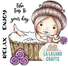 New La La Land Crafts SLEEPING BABY MARCI Cling Rubber Stamp Pacifier Dream Girl