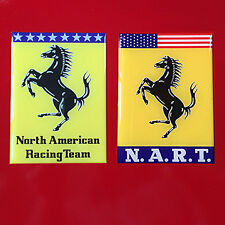 Ferrari Resin Domed NART Emblem Badge