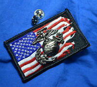 KANDAHAR WHACKER© USMC MARSOC RAIDERS WAR-TORN FLAG + Eagle-Globe-Anchor EGA PIN