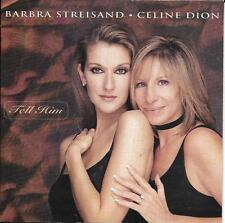CD CARTONNE CARDSLEEVE 2T CELINE DION ET BARBRA STREISAND TELL HIM 1997