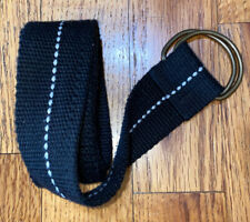 New listing Boys Adjustable Cloth Belt One Size 34� Long Black With White Stripe