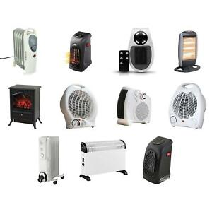 2kw Electric Heater Flat Upright Fan Silent Thermostat 2 Heat Setting Cool Blow