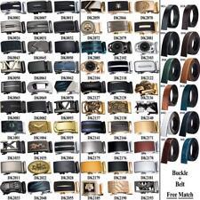 Mens Belts 12 Kinds Leather Ratchet Straps 60 Kinds Automatic Buckles Good Match