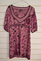 Freespirit Womens Floral Patterned Dress - Purple - Size 12 (RefE2)
