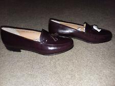 NEW $900 Salvatore Ferragamo Plum/Burgundy Tassel Penny Loafer Shoes SZ 11 EE