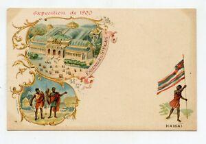 Exhibition Of 1900. Paris. Set Large Palace. Hawai
