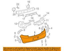 TOYOTA OEM 09-11 Yaris Rear Bumper-Cover 5215952954