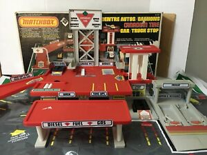 Vintage Matchbox Convoy Canadian Tire Variant  Truck Stop With Box And Play Mat
