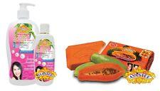 Rice Milk & Collagen Lotion 400ml + PAPAYA  SOAP & HONEY SOAP  3 x 135g ASANTEE