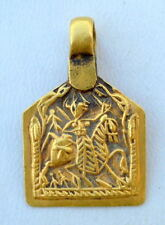22K ANTIQUE TRIBAL OLD GOLD AMULET PENDANT RAJASTHAN