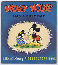 Mickey Mouse Has A Busy Day Whitman Company 1937