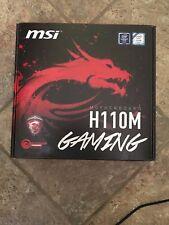 MSI H110M Gaming LGA 1151 Intel HDMI SATA 6Gb/s USB 3.1 Micro ATX Motherboard