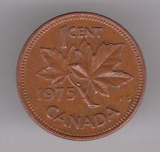 Canada 1 CENTESIMI 1975 moneta bronzo-FOGLIA D'ACERO