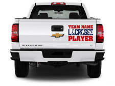 Child's Personalized Lacrosse Vinyl Decal Easy Install Guarantee