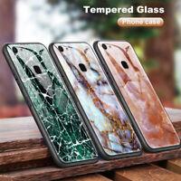 Marble Cover Tempered Glass Case for Vivo Y3 Y71 Y75 Y79 Y83 Y85 Y97 V11i X21i