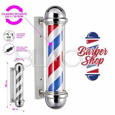INSEGNA LUMINOSA BARBIERE ROTANTE BARBER POLE SMALL PALO BARBER SHOP 15,5x65cm