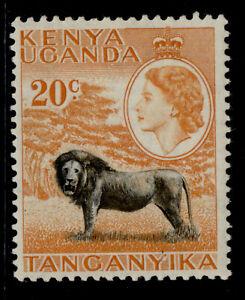 KENYA UGANDA TANGANYIKA QEII SG170, 20c black & orange, M MINT.