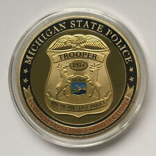 Michigan State Police Challenge Coin