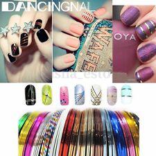 30 Rollos Adhesivas Cinta Decoración Para Uñas Gel Pegatinas Manicura Nail Art