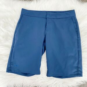 Under Armour Performance Womens 2 Blue Bermuda Golf Shorts Athletic