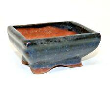 12cm Dark Blue, Ceramic, Bonsai Pots - Used