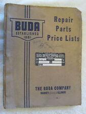 1940s Buda Model 6dh 691 Diesel Engine Repair Parts List Manual