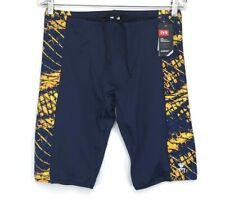 Tyr Mens Durafast Elite Cycling Shorts Plexus Jammer-A Navy Gold Size 38 Nwt
